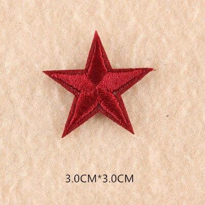 1 шт. смешанные нашивки со звездами для одежды, железная вышитая аппликация, милая нашивка эмблема на ткани, одежда, аксессуары для одежды DIY 61 - Цвет: 61Z
