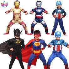 Детский костюм супергероя из мультфильма «Человек-паук», «Бэтмен», «Супермен», «Железный человек», «Капитан Америка», «мстители»