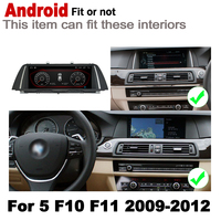 "hd מסך 10.25"" סטריאו מסך HD 7.0 אנדרואיד עד לרכב GPS Navi מפה BMW 5 F10 F11 2009 ~ 2012 CIC מקורי סגנון מולטימדיה נגן רדיו (2)"