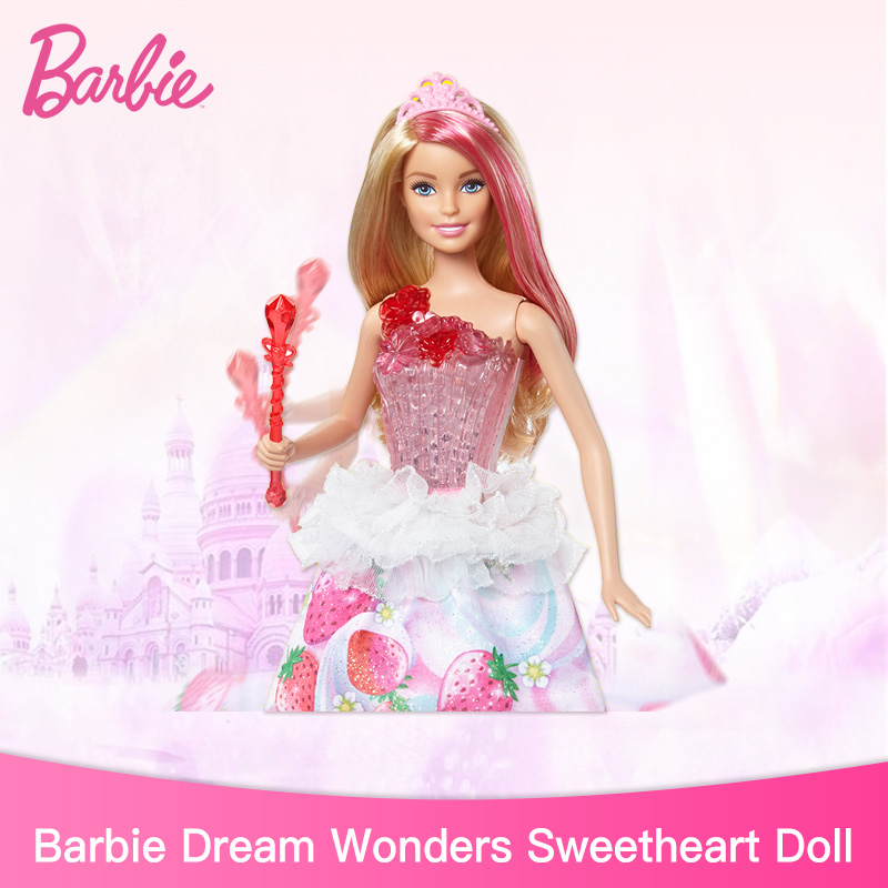 Véritable Barbie Dreamtopia sweet ville princesse lumières et sons filles jouets noël anniversaire cadeaux Original Barbie poupées jouets