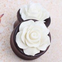 High Quality 8-20mm Beautiful Flower Wood Ear Tunnel Plug Body Piercing Jewelry wholesales