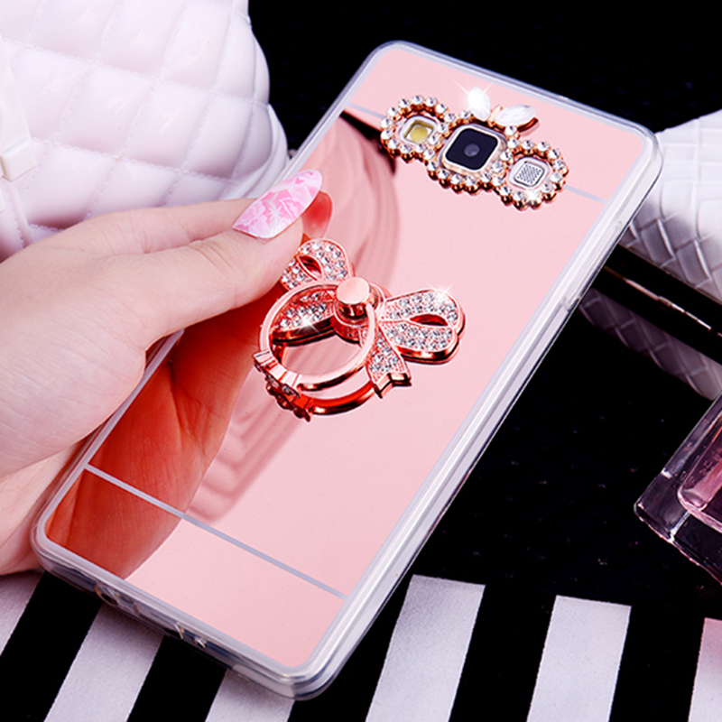 Mirror Case Soft TPU Gel Luxury Cover For Samsung Galaxy S10 S9 S8 Plus Acrylic Coque Note 8 5 J2 Prime J3 J4 J5 J6 J7 2016 2017 image