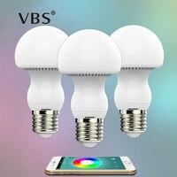 Mushroom Lamp Bulb Bluetooth LED Bulb E27 RGBW 6W Bluetooth 4 0 Smart Color Changeable By