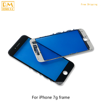 1PCS For IPhone 7G 7 Plus Outer Replace Glass With Frame Bezel LCD Front Touch Screen