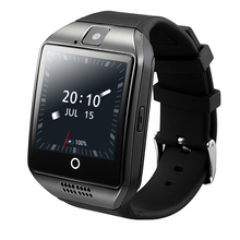 Q18 Plus Android 4.4.2 Reloj Inteligente MTK6572 Dual-core 512 MB + 4 GB WIFI de la Ayuda 2G/3G Tarjeta SIM Smartwatch Bluetooth de la Música de Cámara