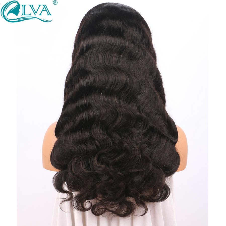 360 волосы на шнурках спереди al парик предварительно сорвал с волосами младенца бразильские волнистые волосы на теле человеческие волосы парики для черных женщин Elva remy волосы