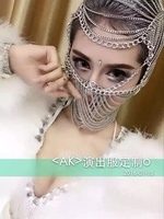 2018 Sale Viscose Adult Novelty Hairbands Geometric New Women Singer Dj Exaggerated Headwear Chain