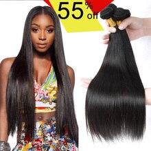 stema hair mink brazilian virgin hair jet black human hair weave bundles brazilian straight virgin hair