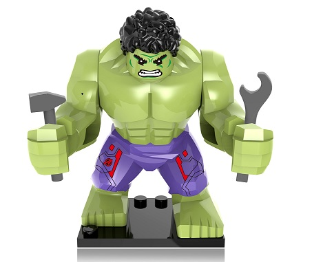 20Pcs Super Heroes Star Wars 7cm Big Green Hulk Buster Captain America Building Blocks Education Toys
