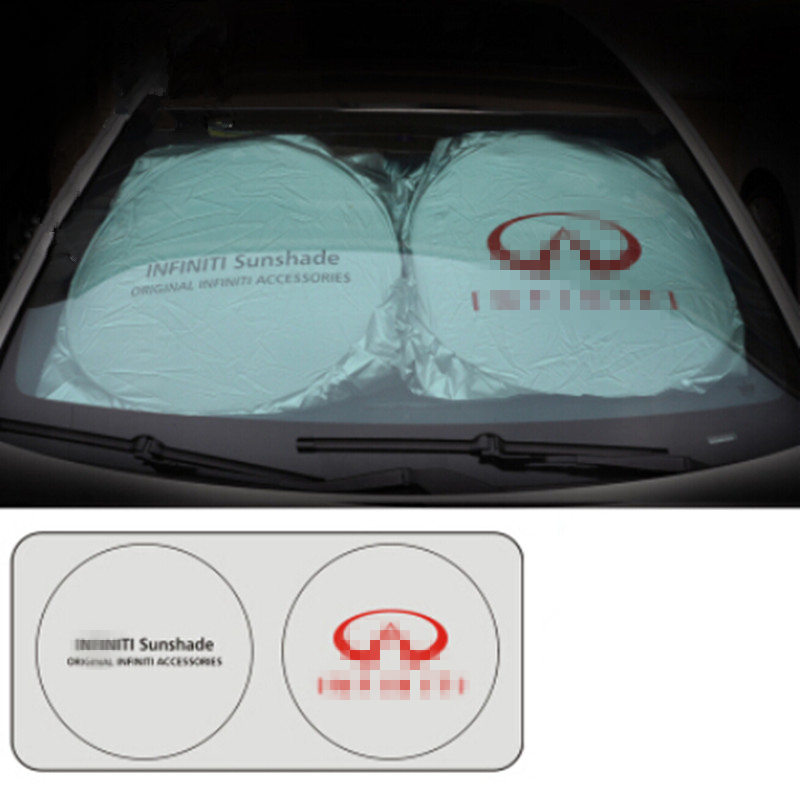 For Infiniti FX35 Q50 G35 FX G37 QX56 QZ70 FX37 EX35 QX80 M35 QX60 QX4 FX50 G25 Q30 FX45 I30 M37 Car Front Windshield Sunshade custom high quality car seat cover for 7 seat infiniti qx80 qx56 jx35 qx60 lincoln mkt acura mdx car accessories car styling