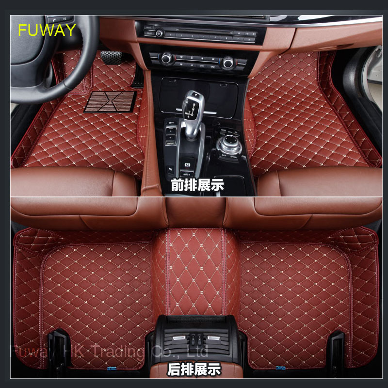 Custom car floor mats for KIA All Models K2/3/4/5 Kia Cerato Sportage Optima Maxima carnival rio ceed car styling floor mat 2 front leather car seat cover for kia k2k3k5 kia cerato sportage optima maxima carnival rio ceed car accessories styling