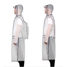 Backpack Raincoat Schoolbag Plastic Women Ladies Hooded Long-Poncho Hiking Waterproof