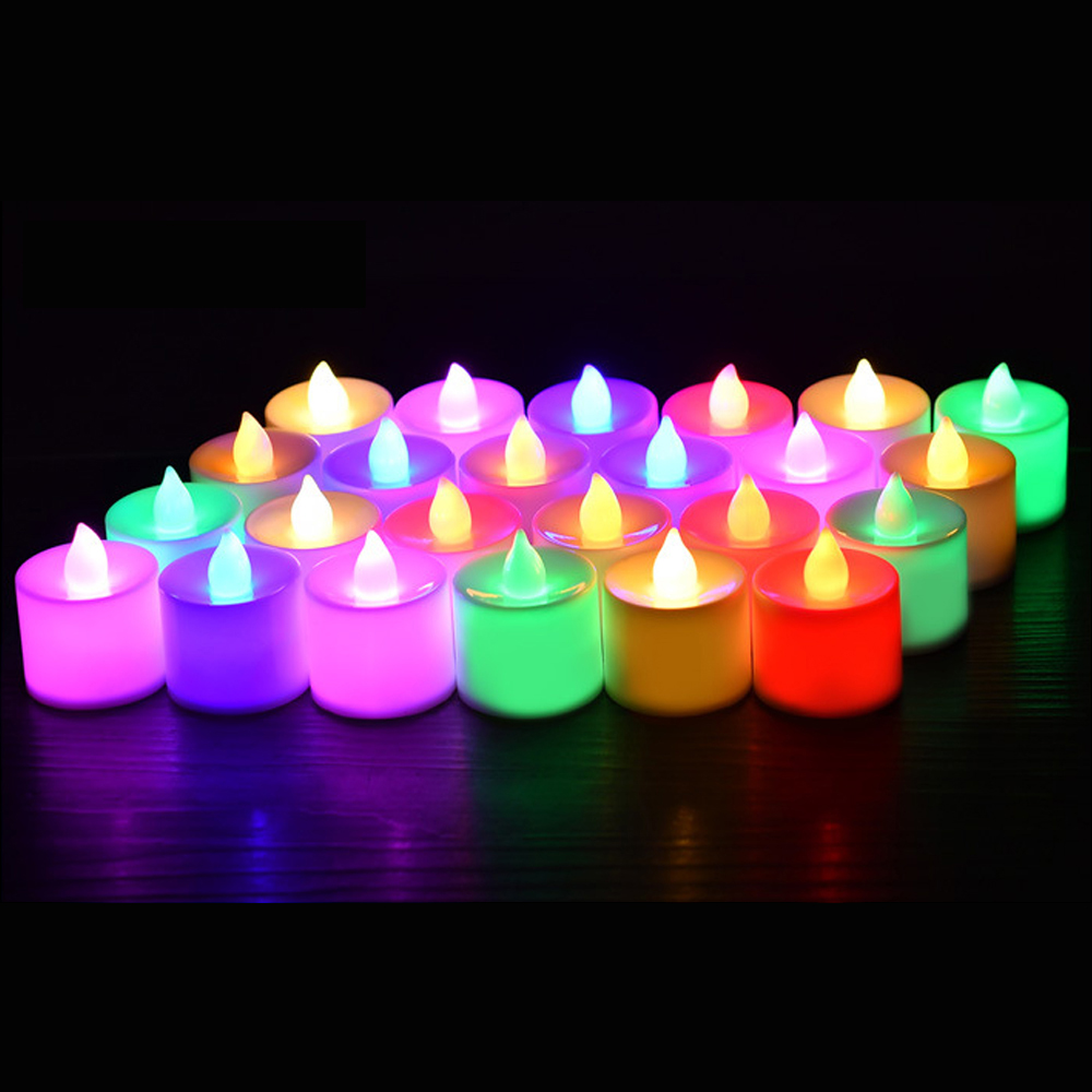 24pcs/set LED Candle Battery Tea Light Flickering Flameless Electric Candles Wedding Christmas Party Decoration Lighting