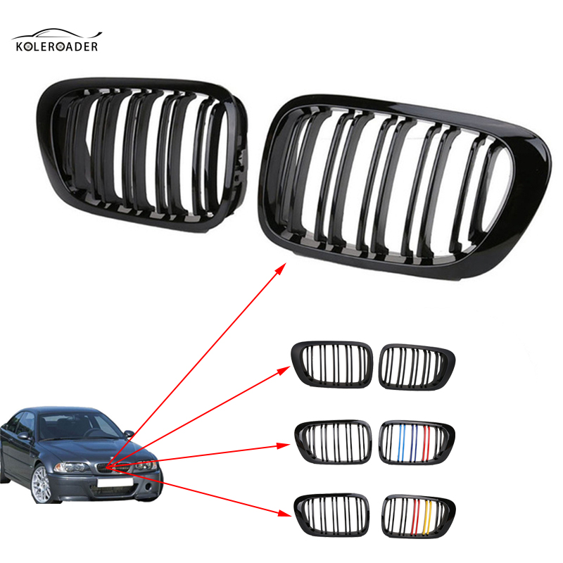 KOLEROADER 1 Pair Front Center Kidney Grilles For BMW 3 series E46 2 Door 1998-2001 Coupe Convertible M3 2001-2006 Car Styling 3 1 human anatomical kidney structure dissection organ medical teach model school hospital hi q