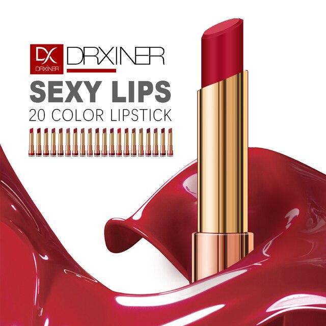 מט שפתון לאורך זמן עירום שפתונים סט פופולרי צבעים עמיד למים מקל שפתיים מט סקסי אדום נוזל שפתון לשפות