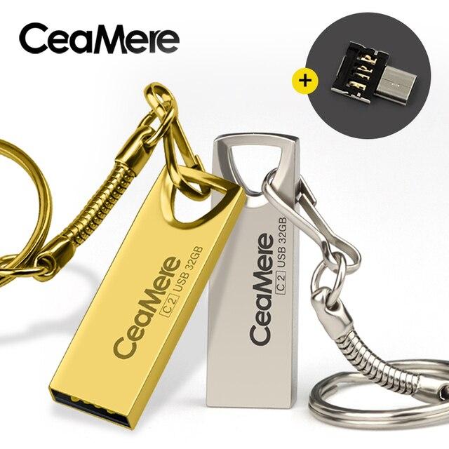 Ceamere C2 USB Flash Drive 8GB/16GB/32GB/64GB Pen Drive Pendrive USB 2.0 Flash Drive Memory stick  USB disk 512MB 256MB