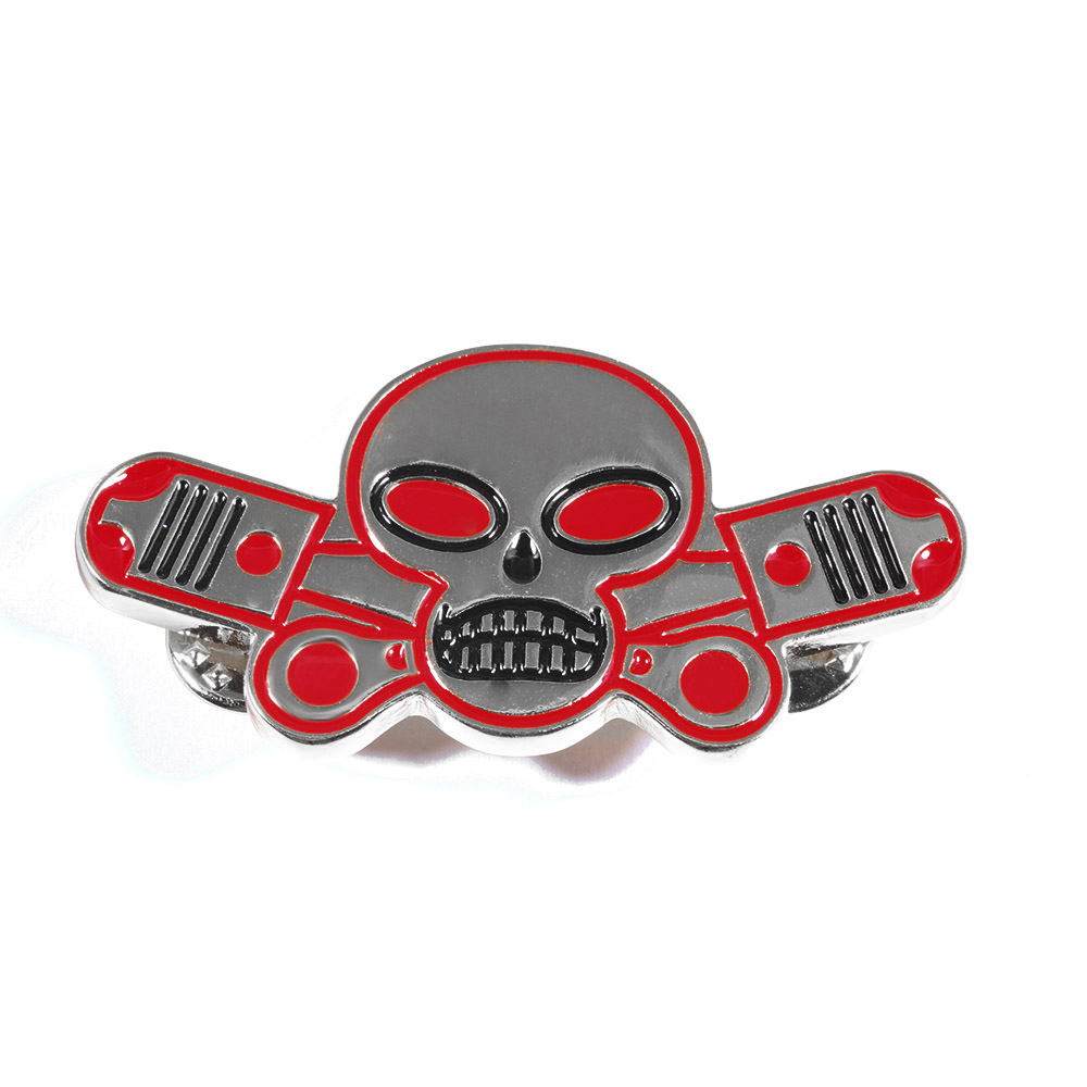 New Fashion Skeleton Wing Outlaws Brooch Motorcycle Biker Hells Pins Man Party Rock Gift Free Shipping HL-001