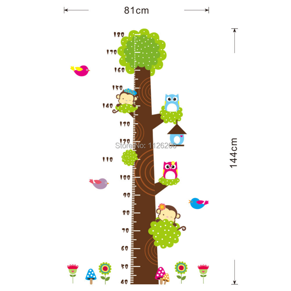 aliexpress com buy animals height chart decal children s room aliexpress com buy animals height chart decal children s room baby nursery cartoon sticker wall art decal from reliable decal factory suppliers on myhome