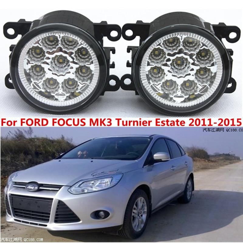 For FORD FOCUS MK3 Turnier Estate 2011-2015 Car styling front bumper LED fog Lights high brightness lamps 1set