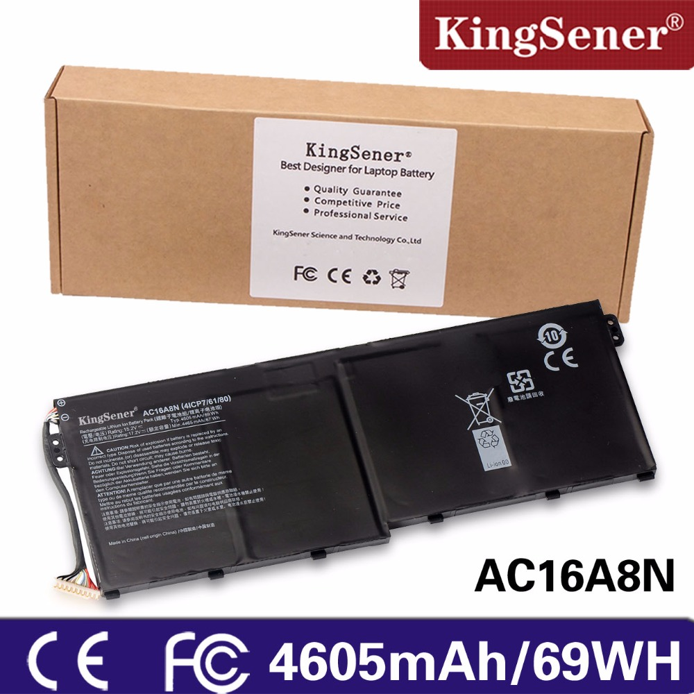 KingSener New AC16A8N Laptop Battery for Acer Aspire V17 V15 Nitro BE VN7-793G VN7-593G 15.2V 4605mAh 69WH Free 2 Years Warranty ноутбук acer aspire v nitro vn7 591g 771j nx muyer 002