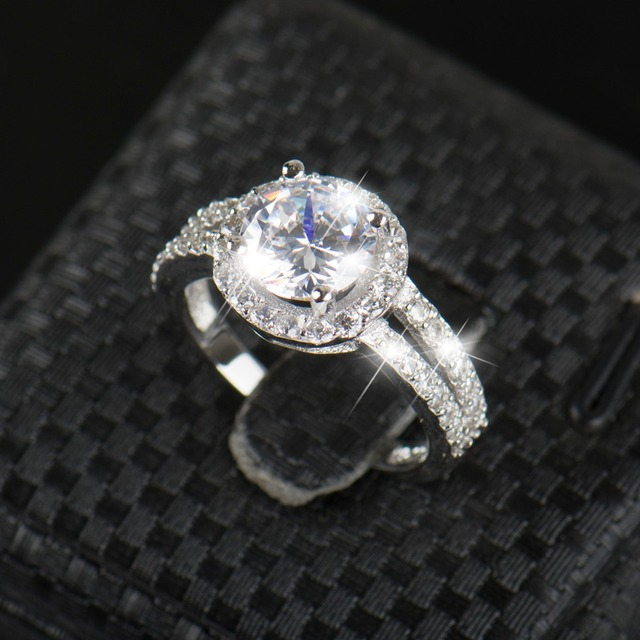 Ring Pink Engagement Zirconia