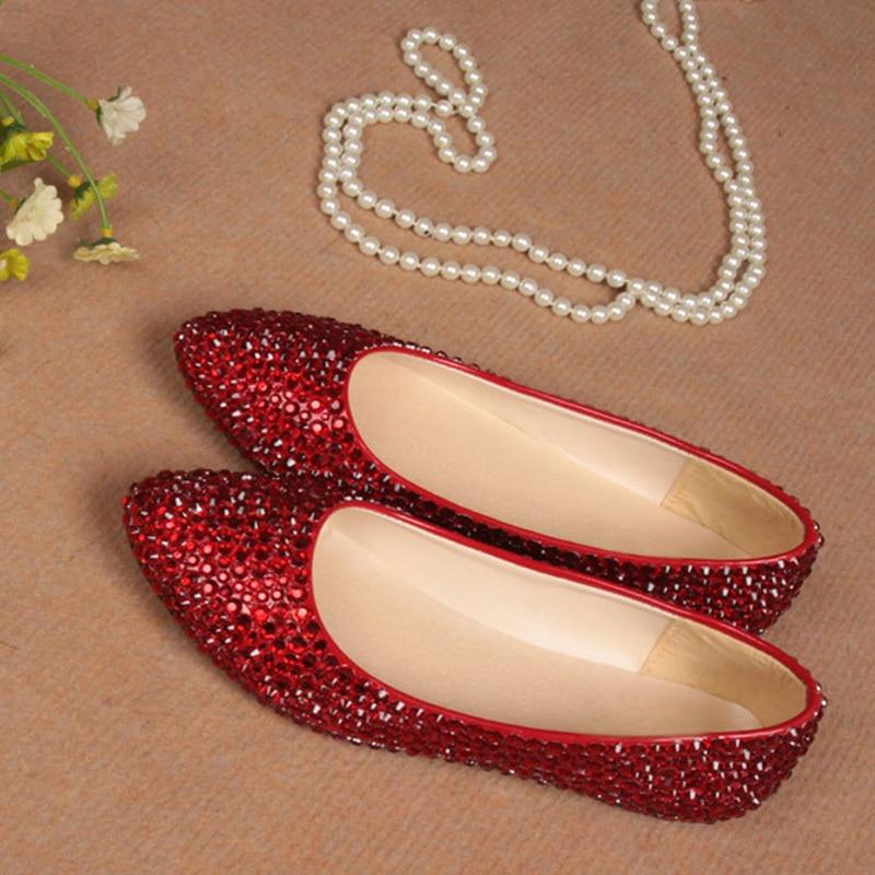 Elegant Red Flats Perfect Custom Made Wedding Evening