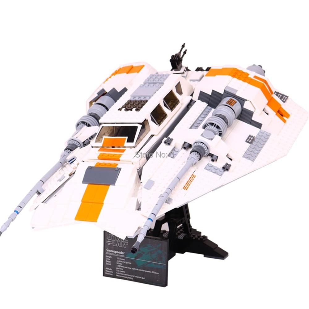 1457pcs star war rebel snow speeder fighter 2 figures building block  10129 Bricks Toy-in Blocks from Toys & Hobbies    1