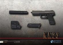 Масштаб 1:6 MK23 SOCOM ZY2009D, пистолет, оружие, пистолет, модель 1/6, Миниатюрная игрушка, фигурка F 12 дюймов
