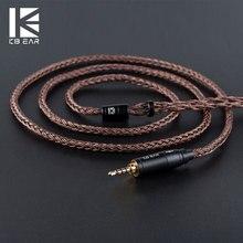 КБ ухо 16 ядерный Чистый медный кабель с металлом 2pin/MMCX/QDC разъем использовать для KZ ZS10 PRO ZSN PRO AS16 ZSN AS10
