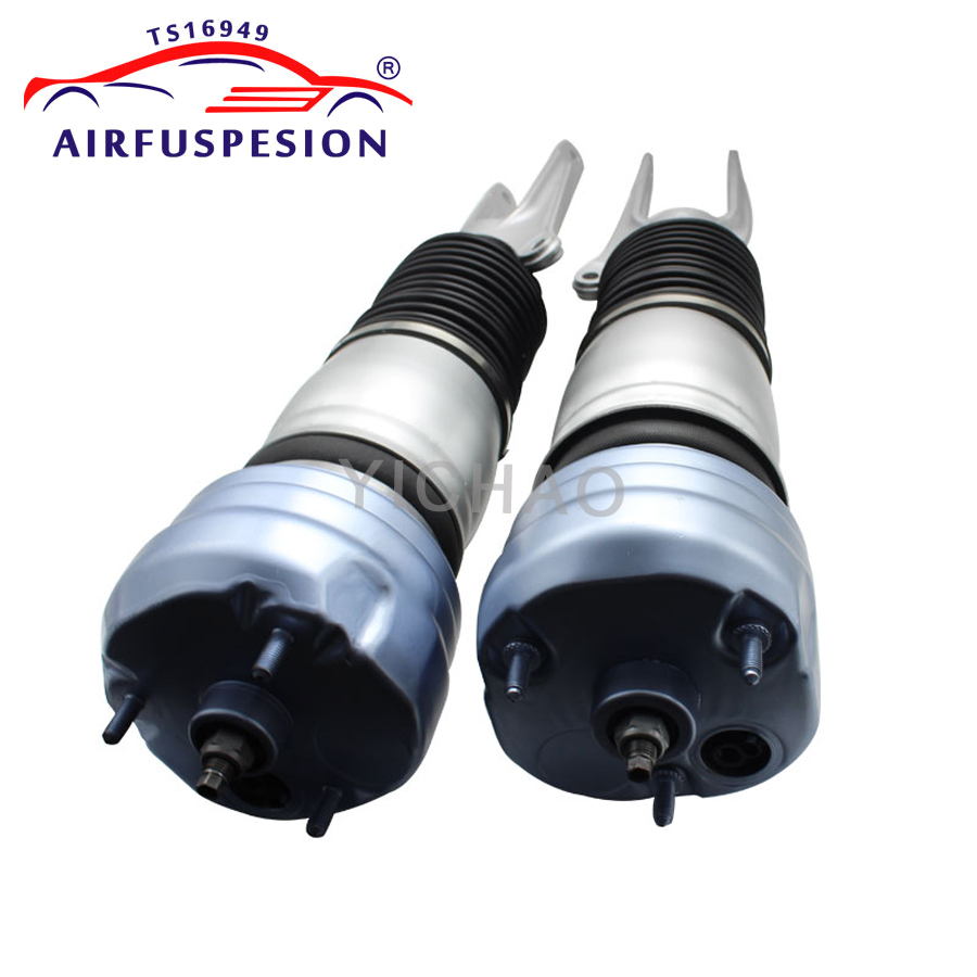 Pair air shock absorber fit for Porsche Panamera 970 2009 2015 Front Left right Suspension Air Spring Bag Strut 97034305110