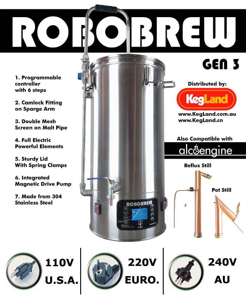 ROBOBREW 35L-GEN.3.1-HOME BREW TUDO EM UM