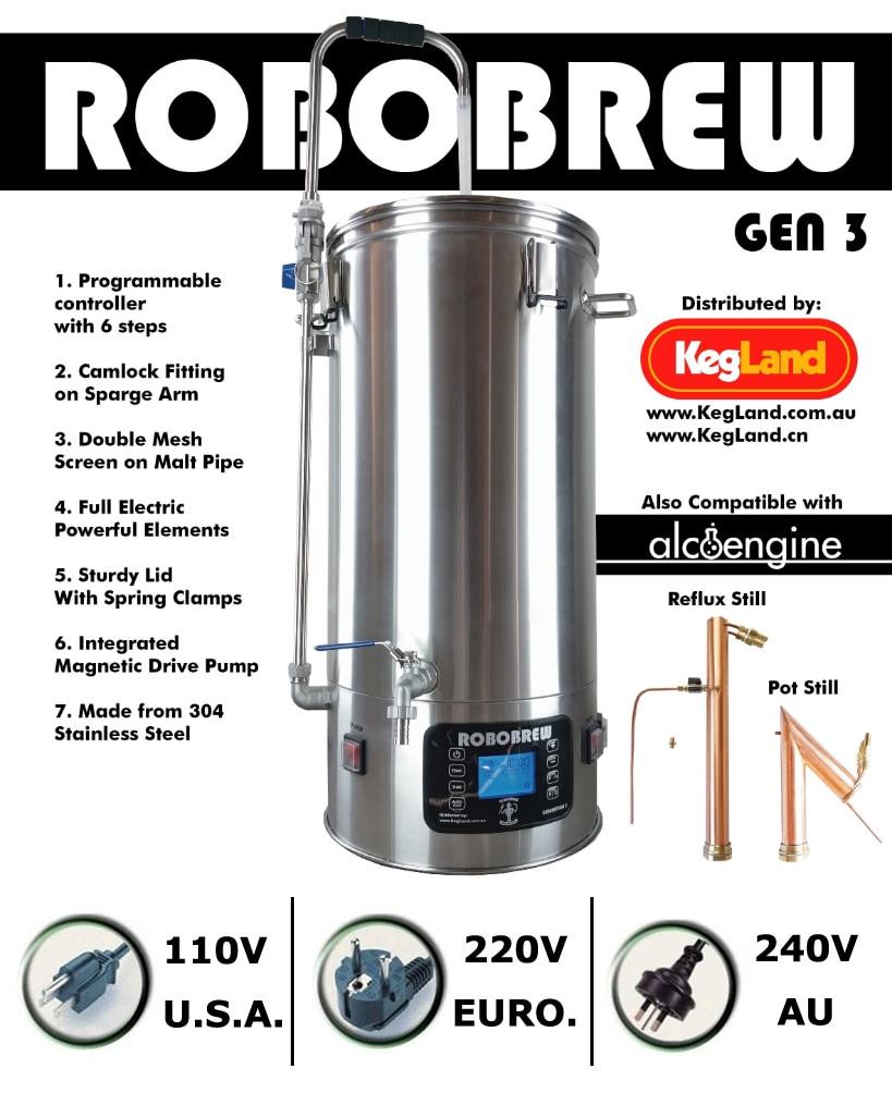 ROBOBREW 35L-GEN.3.0-BIRRA FATTA in CASA ALL IN ONE