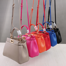 Real leather lady mini bag summer soft top layer genuine lea