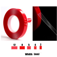 цена на Cheapest  Acrylic Adhesive Clear Quality Double Sided Tape 50 meters length 8mm Width Tapes Wedding Wall Decoration Sticker
