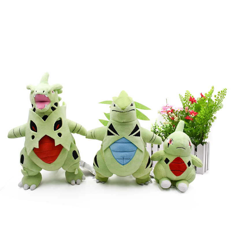 3 Styles Standing Mega Tyranitar Mega Evolution Peluche  Larvitar Animal Dolls Plush Doll Hot Toys Great Gift For Children