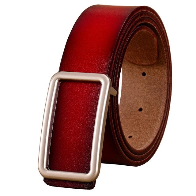 Women's Minimalistic Genuine Leather Belt