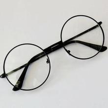 Унисекс ретро круглые металлические оправы очки оригинальные прозрачные линзы очки 2 стиля для мужчин Высокое качество горячая распродажа