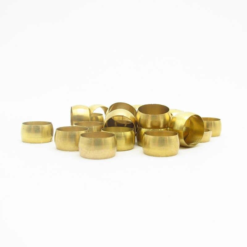 20PCS 3mm 4mm 5mm 6mm 6.35mm 8mm 10mm 12mm 14mm 16 มม.ทองเหลือง Fit แขนแขนยึด Ferrule แหวน
