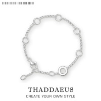 Round Eyelets Basic Charm Bracelets Link Chain 925 Sterling Silver Ts Trendy Fashion Club Jewelry Thomas
