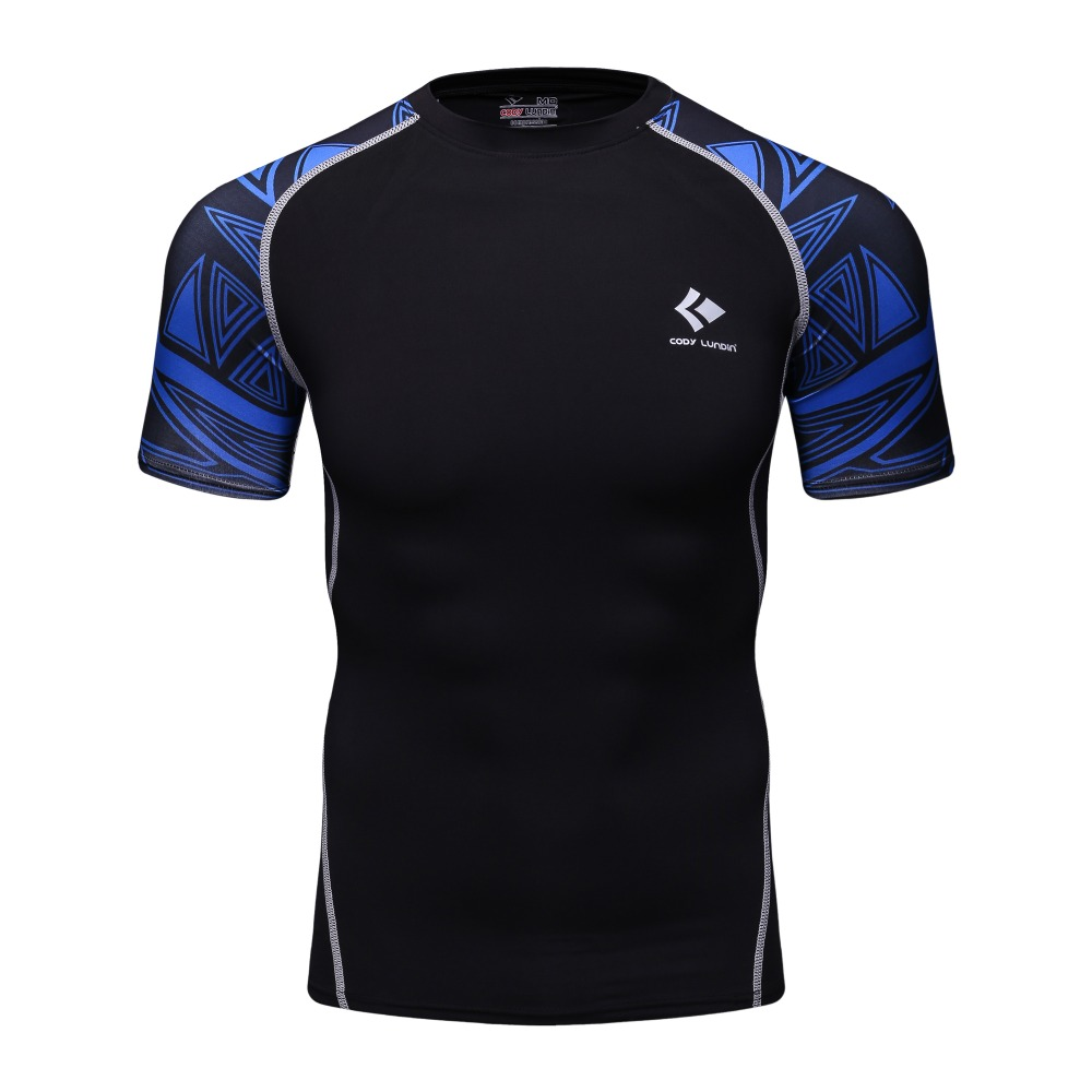 Men/'s Compression Sports Skin T-shirt Long Sleeve Workout Fitness Top Round Neck