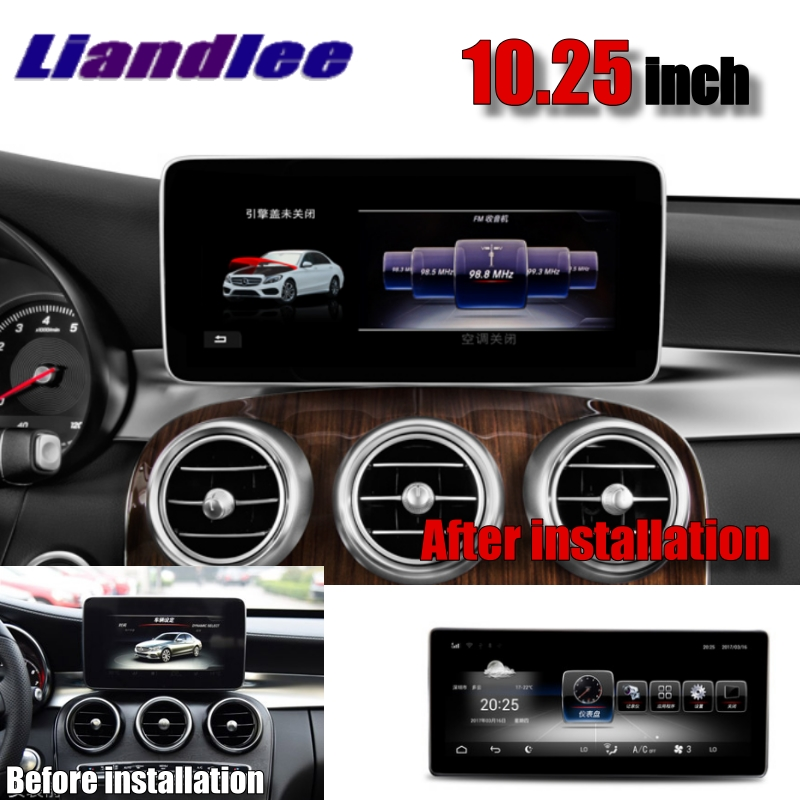 Liandlee Car Multimedia Player NAVI For Mercedes Benz MB GLC Class X253 C253 2015~2018 Original car Radio Stereo GPS Navigation 4