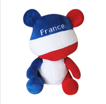 20cm-25cm Olympic mascots representatives of national flags bear creative plush toy bear children gift gold country
