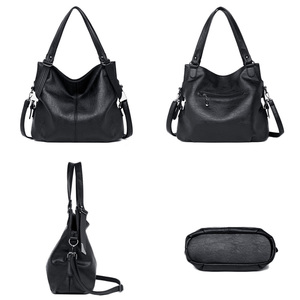Image 4 - 大トートバッグの女性のショルダーバッグレディースソフトレザーハンドバッグ女性黒、赤、グレーダークブルーハンドバッグ2020嚢