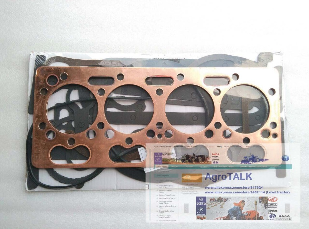 Shanghai (Newholland ) engine parts, 495A, the set of gasket kit including the head gasket cummis engine parts the set of hard fuel pipes for cummis 4bt3 9
