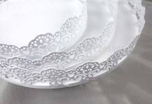 3 teile/satz tortenständer hochzeit dekoration kuchen platte spitze