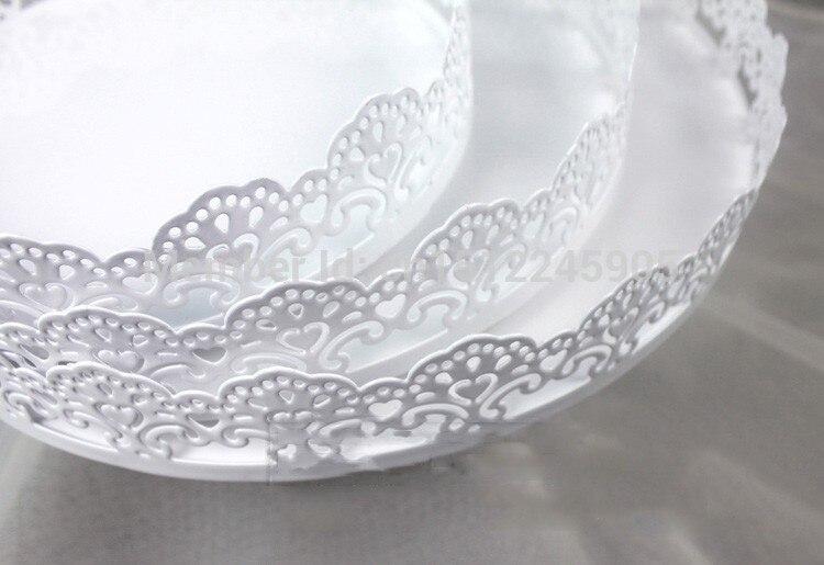 3 pièces/ensemble gâteau stand décoration de mariage gâteau plaque dentelle