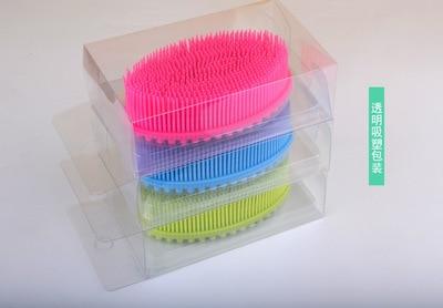1pc Hair Wash Brush Silicone Head Body wipe Shampoo Scalp Massage Baby bath wipe Comb Shower Bath Brush Props Hair Washing in Bath Brushes from Mother Kids