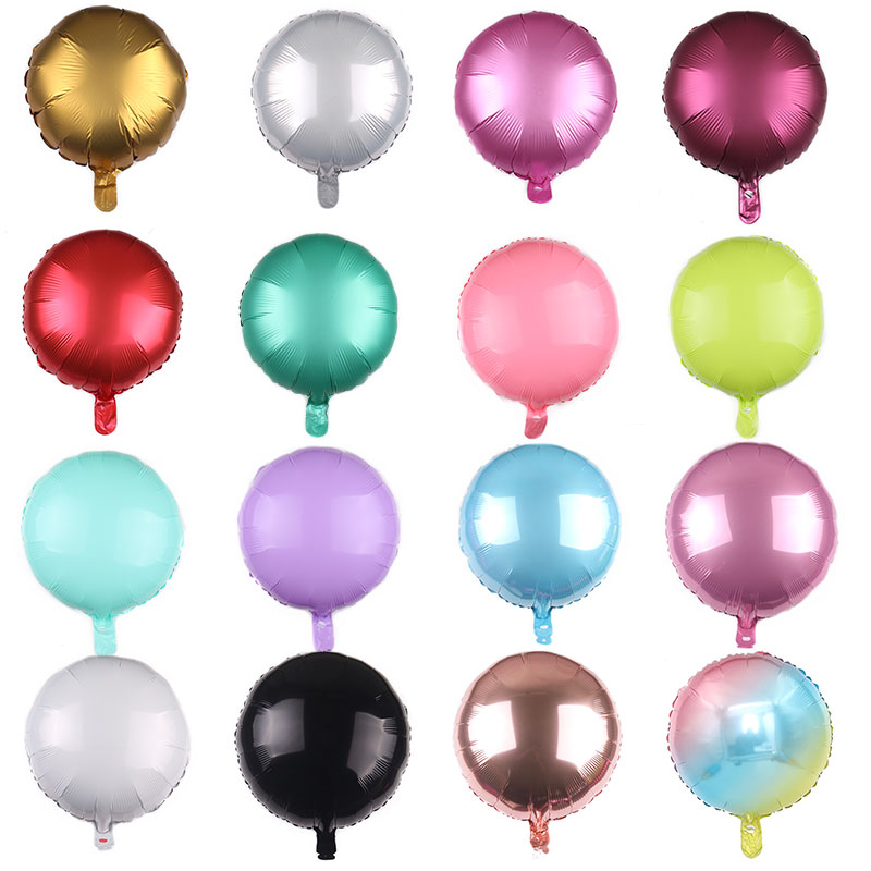 1pc 18inch Round Foil Metal Macaron Balloon Baby Shower Wedding Birthday Party Balloons Festive Party Layout Decoration Balloon