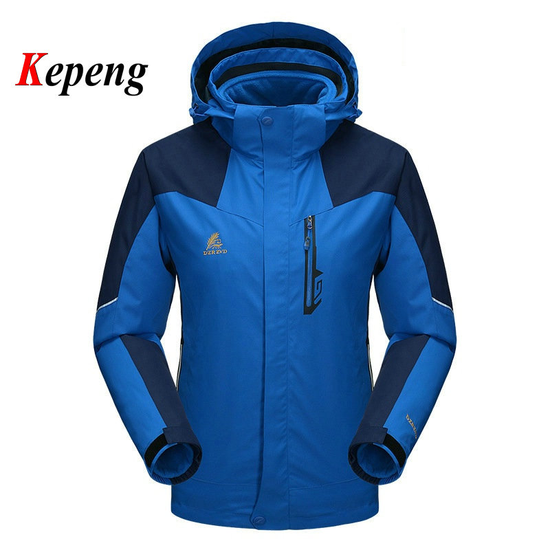 ФОТО outdoor jacket men women waterproof windproof Lovers hunting clothes 3 In 1 Ski Jacket Two Pieces Warm climbing