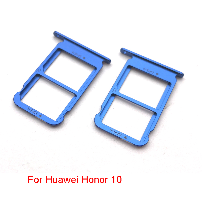 US $2 42 15% OFF|New For Huawei Honor 10 V9 SIM Card Tray Holder Micro SD  Card Tray Slot Holder replacement Part-in SIM Card Adapters from Cellphones